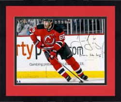 "Framed Jaromir Jagr New Jersey Devils Autographed 16"" x 20"" Photograph with Moves Like Jagr Inscription"