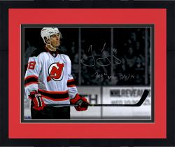 "Framed Jaromir Jagr New Jersey Devils Autographed 16"" x 20"" Spotlight Photograph with 700th Goal 3/1/14 Inscription"