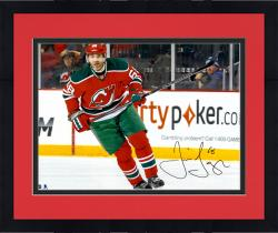 "Framed Jaromir Jagr New Jersey Devils Autographed Skating with Puck 16"" x 20"" Photograph"