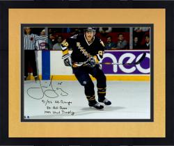 "Framed Jaromir Jagr Pittsburgh Penguins Autographed 16"" x 20"" Photograph with Multiple Inscriptions"
