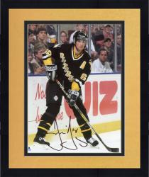"Framed Jaromir Jagr Pittsburgh Penguins Autographed Against the Boards 8"" x 10"" Photograph"