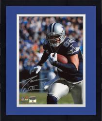"Framed Jason Witten Dallas Cowboys Autographed 8"" x 10"" Close Up Run Photograph"