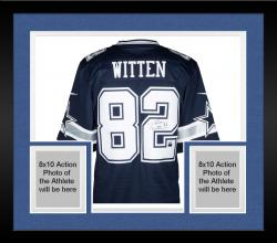 Framed Jason Witten Dallas Cowboys Autographed Nike Limited Blue Jersey