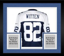 Framed Jason Witten Dallas Cowboys Autographed Nike Limited Throwback Jersey