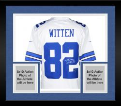 Framed Jason Witten Dallas Cowboys Autographed Nike Limited White Jersey