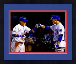 Framed Javier Baez and Anthony Rizzo Chicago Cubs Autographed 16'' x 20'' Photograph