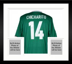 Framed Javier Chicharito Mexico Autographed Green Back Jersey