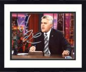 "Framed Jay Leno Autographed 8"" x 10"" Sitting Behind Desk Photograph - Beckett COA"