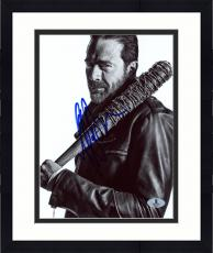 "Framed Jeffrey Morgan Autographed 8"" x 10"" The Walking Dead Black & White Photograph - Beckett COA"