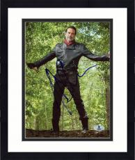 "Framed Jeffrey Morgan Autographed 8"" x 10"" The Walking Dead In Woods Photograph - Beckett COA"