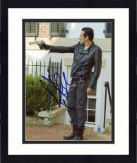 """Framed Jeffrey Morgan Autographed 8"""" x 10"""" The Walking Dead Pointing Gun Photograph - Beckett COA"""