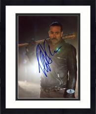 """Framed Jeffrey Morgan Autographed 8"""" x 10"""" The Walking Dead Standing Photograph - Beckett COA"""
