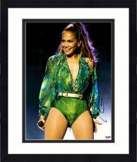 "Framed Jennifer Lopez Autographed 11"" x 14"" Performing Photograph - PSA/DNA"