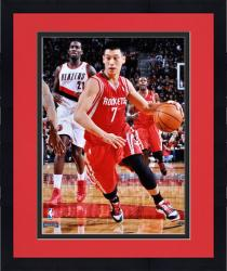 "Framed Jeremy Lin Houston Rockets Autographed 16"" x 20"" Dribble Photograph"