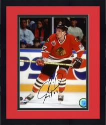 "Framed Jeremy Roenick Chicago Blackhawks Autographed 8"" x 10"" Action Photograph -"