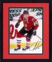 "Framed Jeremy Roenick Chicago Blackhawks Autographed 8"" x 10"" Pose Photograph"