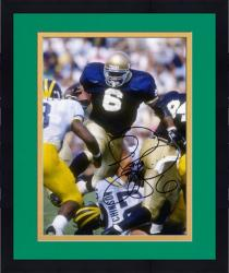 "Framed Jerome Bettis Notre Dame Fighting Irish Autographed 8"" x 10"" vs. Michigan Wolverines Photograph"