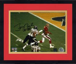 Framed Jerry Rice San Francisco 49ers Super Bowl XXXIV Autographed 8'' x 10'' Horizontal Running for Touchdown Photograph
