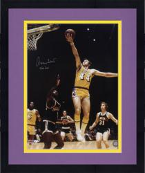 "Framed Jerry West Los Angeles Lakers Autographed 16"" x 20"" Layup Photograph"