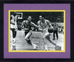 "Framed Jerry West Los Angeles Lakers Autographed 8"" x 10"" Horizontal Black & White Photograph"