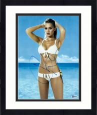 """Framed Jessica Alba Autographed 11"""" x 14"""" Posing in Swimsuit with Hands Behind Head Photograph - Beckett COA"""