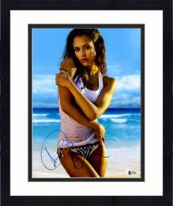 """Framed Jessica Alba Autographed 11"""" x 14"""" Posing with Arms Crossed Photograph - Beckett COA"""