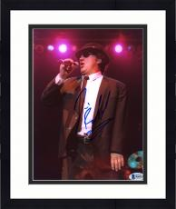 """Framed Jim Belushi Autographed 8"""" x 10"""" Blues Brothers Holding Microphone Photograph - Beckett COA"""