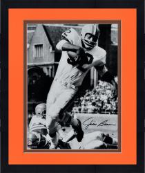 "Framed Jim Brown Cleveland Browns Autographed 16"" x 20"" Vertical in White Photograph"