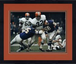 Framed Jim Brown Cleveland Browns Autographed 16'' x 20'' vs Minnesota Vikings Photograph