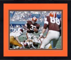 Framed Jim Brown Cleveland Browns Autographed 16'' x 20'' vs Washington Redskins Photograph