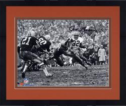"""Framed Jim Brown Cleveland Browns Autographed 8"""" x 10"""" Horizontal in Mud Photograph"""
