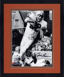 Framed Jim Brown Cleveland Browns Autographed 8'' x 10'' Vertical in White Photograph