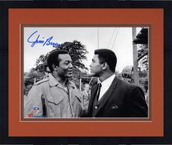 Framed Jim Brown Cleveland Browns Autographed 8'' x 10'' with Muhammad Ali Photograph