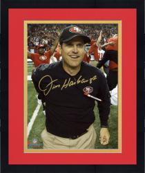 "Framed Jim Harbaugh San Francisco 49ers 2012 NFC Champions Autographed 8"" x 10"" Photograph"