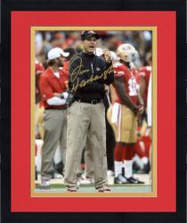 "Framed Jim Harbaugh San Francisco 49ers Autographed 8'' x 10"" Photograph"