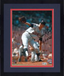 Framed Jim Kaat Minnesota Twins Autographed 8'' x 10'' Pitching Photograph with 16X Gold Gloves Inscription