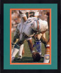 "Framed Jim Langer Miami Dolphins Autographed 8"" x 10"" Action Photograph"