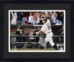 Framed Jim Thome Chicago White Sox 500th HR Autographed 16'' x 20'' Photograph with 500th HR & 9/16/07 Inscriptions