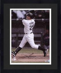 """Framed Jim Thome Chicago White Sox Autographed 16"""" x 20"""" Back Shot Batting Photograph"""