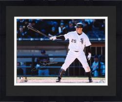 Framed Jim Thome Chicago White Sox Autographed 16'' x 20'' Horizontal Bat On Side Photograph