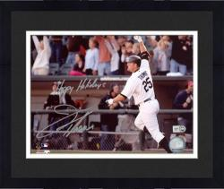"""Framed Jim Thome Chicago White Sox Autographed 8"""" x 10"""" Photograph with Happy Holidays Inscription"""