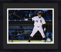 Framed Jim Thome Chicago White Sox Autographed 8'' x 10'' Pointing Bat Photograph
