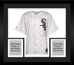 "Framed Jim Thome Chicago White Sox Autographed Majestic Replica Jersey with ""500 HR 9-16-07"" Inscription"
