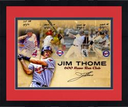 Framed Jim Thome Cleveland Indians Autographed 16'' x 20'' Home Run Collage Photograph with Multiple Inscriptions