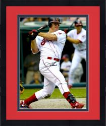 Framed Jim Thome Cleveland Indians Autographed 16'' x 20'' Swinging Photograph