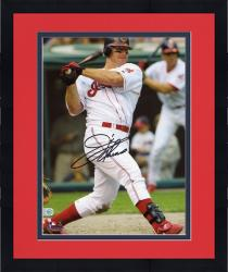 Framed Jim Thome Cleveland Indians Autographed 8'' x 10'' Swinging Photograph
