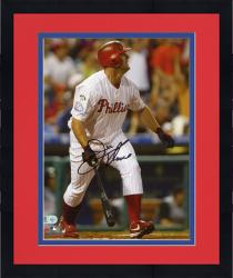 Framed Jim Thome Philadelphia Phillies Autographed 8'' x 10'' 400th Home Run Photograph
