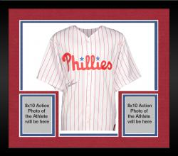 Framed Jim Thome Philadelphia Phillies Autographed Majestic Replica Jersey