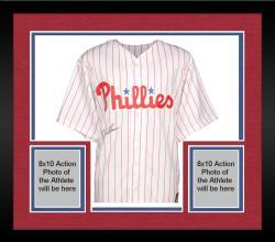 Framed Jim Thome Philadelphia Phillies Autographed Majestic Replica Jersey