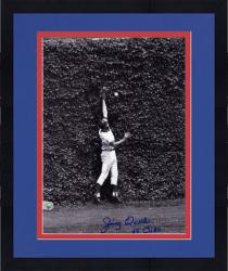 "Framed Jimmy Qualls Chicago Cubs Autographed 8"" x 10"" Fielding Photograph with 69 Cubs Inscription"